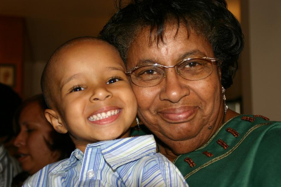 child and grandma