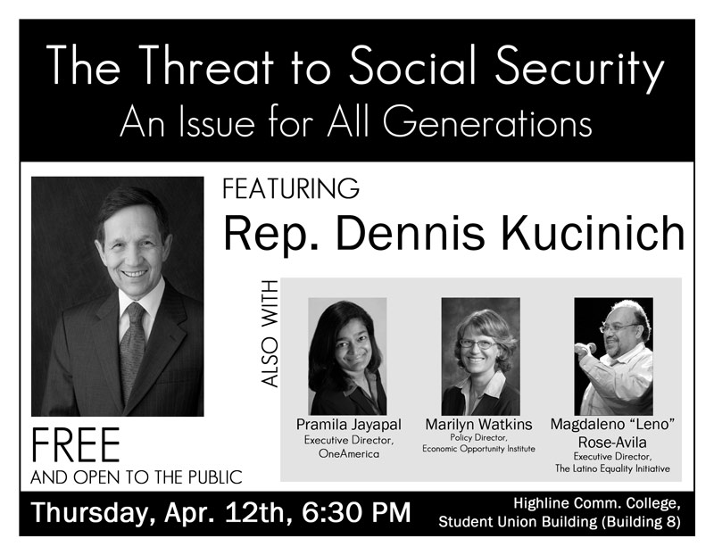 The Threat to Social Security event with Rep. Dennis Kucinich