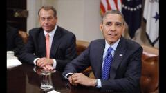 President Obama and House Speaker John Boehner (Pool/Getty Images)
