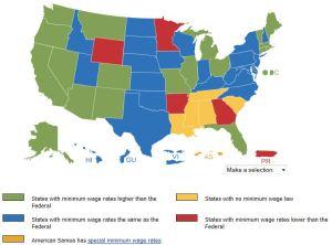 minimum wage by state